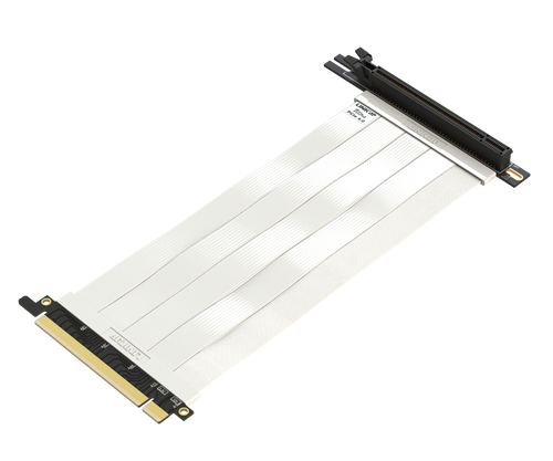 25cm - Ultra PCIe 4.0 X16 Riser Cable Extreme - 90 Degree Socket - White