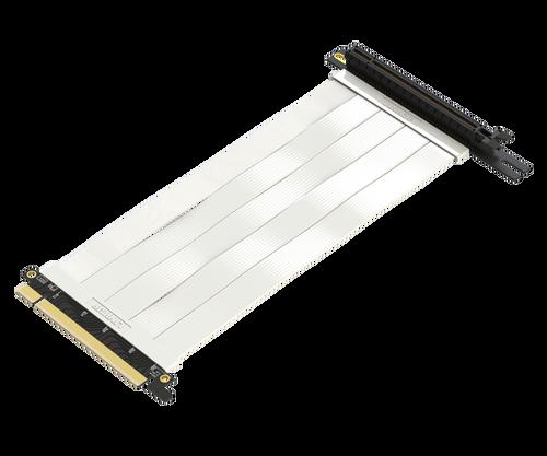 28cm - Ultra PCIe 4.0 X16 Riser Cable Extreme - 270 Degree Socket - White