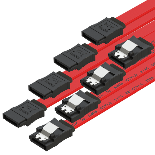 SATA Cable (3-Pack) High-Speed SATA III 6GB/s Straight/Straight HDD SSD Connector Adapter - 38 inch