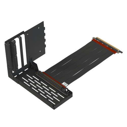 Vertical GPU Mount Loop Bracket Graphic Card Holder with Ultra PCIe 4.0 X16 Gen4 Riser Cable 90 Degree Right Angle