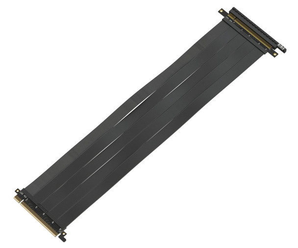 LINKUP {40 cm} PCIE 3.0 16x Shielded High Speed Riser Cable Premium PCI Express Port Extension Card | Straight Socket