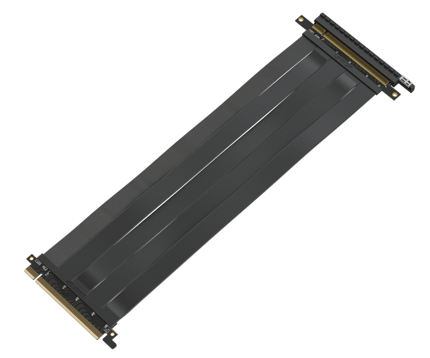 LINKUP [30 cm] 16x Riser Cable 64GB/s GPU Riser Extender - PCIE 3.0 Premium Shielded Twinaxial Technology | Black