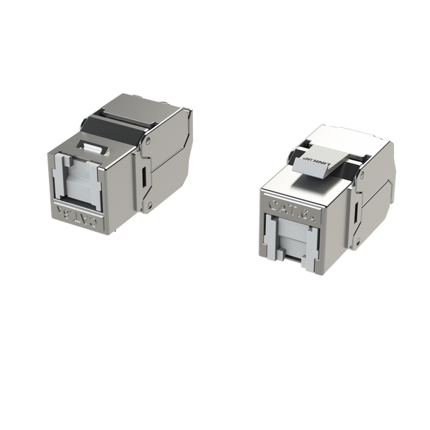 [LINKUP] RJ45 Connectors Cat6A (2 Pack) Shielded Keystone Jack Metal Die-Cast Field Modular Termination | 10G Easy Internet Tool Free Jacks | For Cat6A up to 22AWG Solid Bulk S/FTP Ethernet Cable