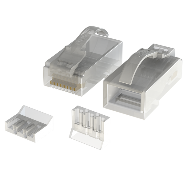 [LINKUP] Snagless RJ45 Cat6 UTP Connectors | Ethernet Cat 6 8P8C Plugs | UTP Gigabit Round Cable Connector | Platinum 50 Mi Gold Plated High Performance | 100 Pack