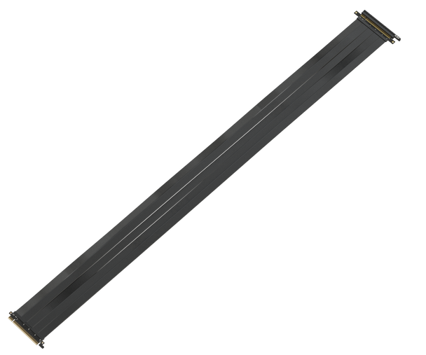 LINKUP {125 cm} PCIE 3.0 16x Shielded Twin-axial Riser Cable Premium PCI Express Port Extension Card | Straight Socket