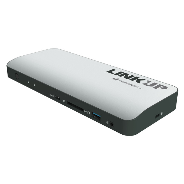[Certified] LINKUP - Aluminum Thunderbolt 3 Dock with DP1.4 and 85W Laptop Charging Power Delivery | for Windows & Mac | (Not Compatible with USB-C Ports Without The Thunderbolt Logo)