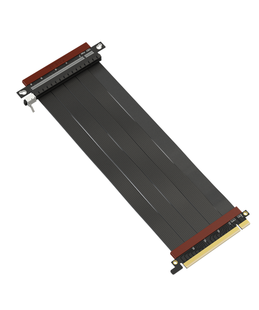 LINKUP - Ultra PCIe 4.0 X16 Riser Cable [RTX3090 x570 B550 RX6900XT Tested] Shielded Extreme High-Speed Vertical Mount Gaming PCI Express Gen4 2021┃Straight Reverse Socket {25 cm} 3.0 Gen3 & TT Compatible