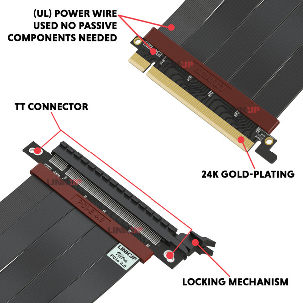 LINKUP Ultra PCIe 4.0 X16 Riser Cable [RTX3080 x570 B550 RX6800 Tested] Extreme High Speed ITX Vertical  Gaming PCI Express Gen4 2020 | Straight Socket {25 cm} 3.0 Gen3 & TT Compatible - White