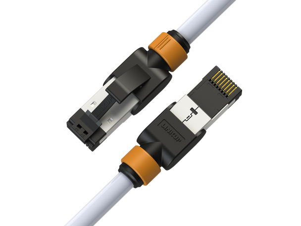 LINKUP [Fluke Certified] Cat7 Ethernet Cable -3 FT (1 Pack) 10G Double Shielded RJ45 S/FTP Patch Cables | for Network Internet LAN Switch Panel Router Gaming | Extreme High Speed |26AWG White