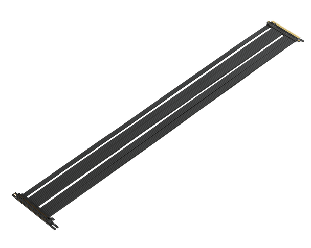 100 cm - PCIE 3.0 16x Extreme Shielded High Speed Riser Cable | 90 Degree Socket