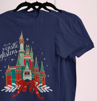 Castle Glistens  Christmas Tee