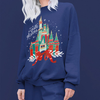 Castle Glistens Christmas Sweatshirt