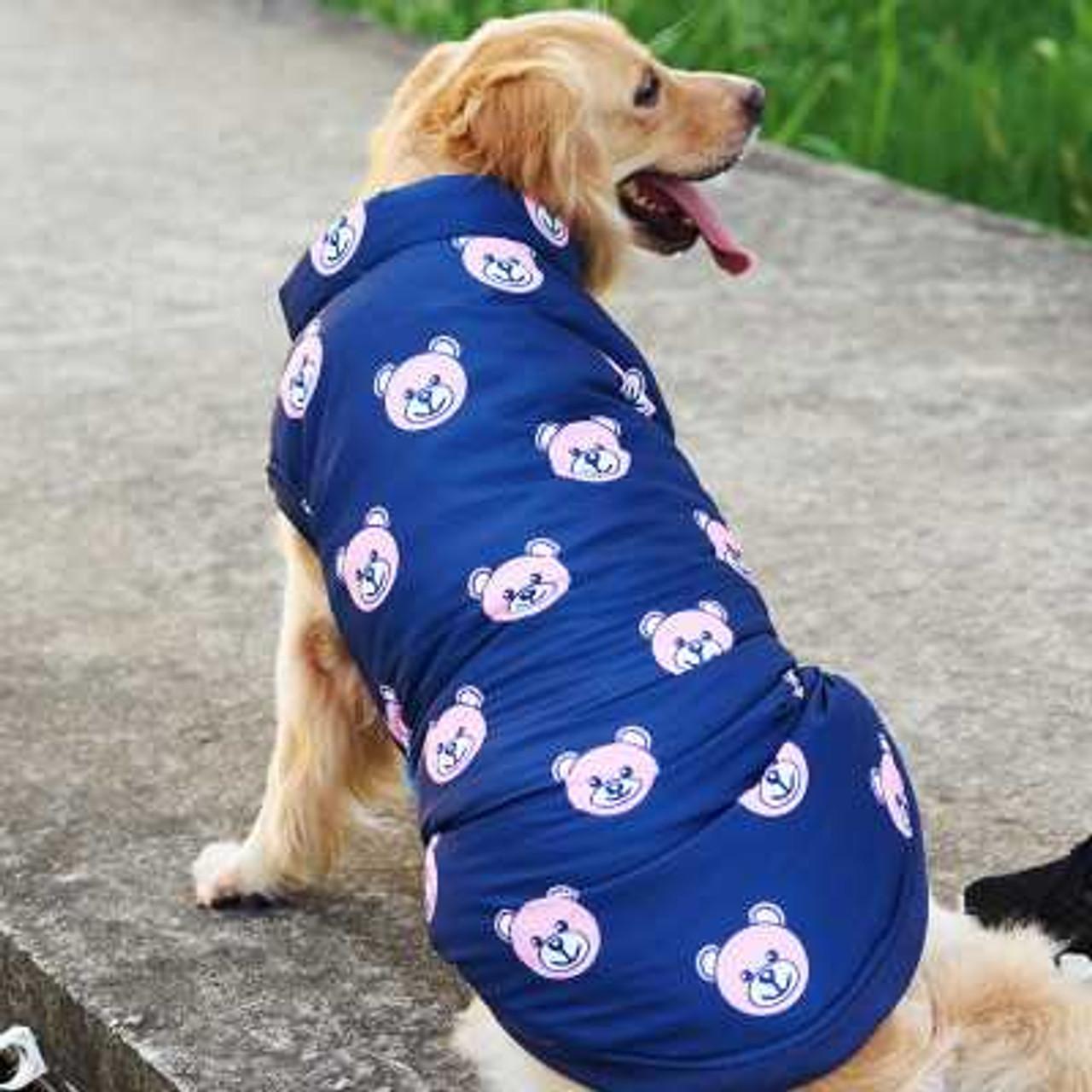 9a4266fb3bc6 Winter Warm Big Large Dog Pet Clothes Golden Retriever Dog Cotton Padded  Jacket Coat