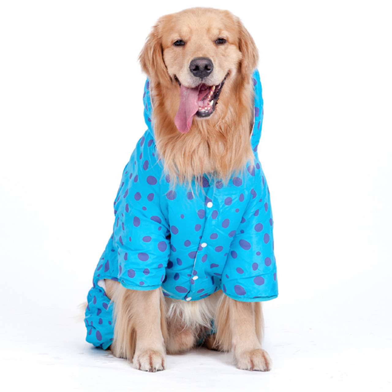 eaaf95d905a8 Waterproof Jacket Dog Rain Poncho Rain Coat for Medium to Large Dogs for Golden  Retriever, Samoyed, ...