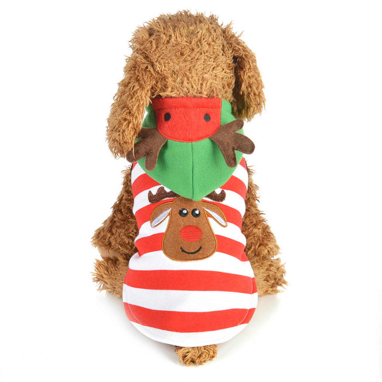 5963492395 Dog Cartoon Printed Clothes Costume Coat Christmas Pet Clothes Puppy  Hoodied Sweatshirts