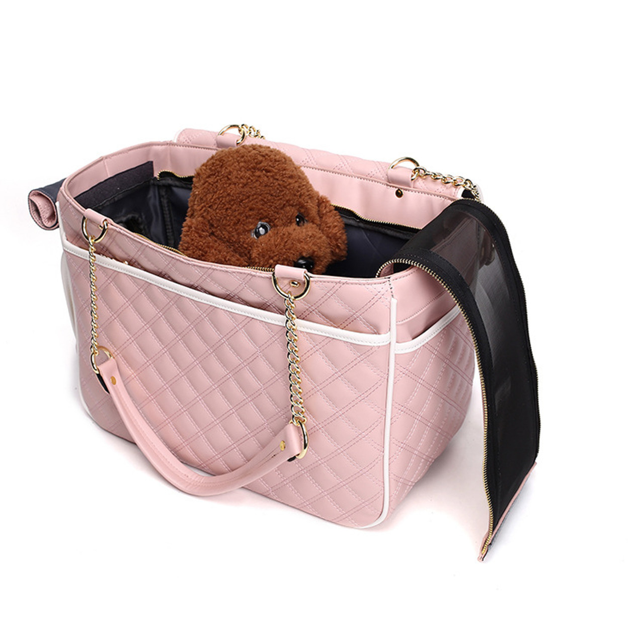 a408543098a1 Pink Dog Carriers Bag Pet Totes Purse Puppy Handbag Cat Cage Doggy Pouch