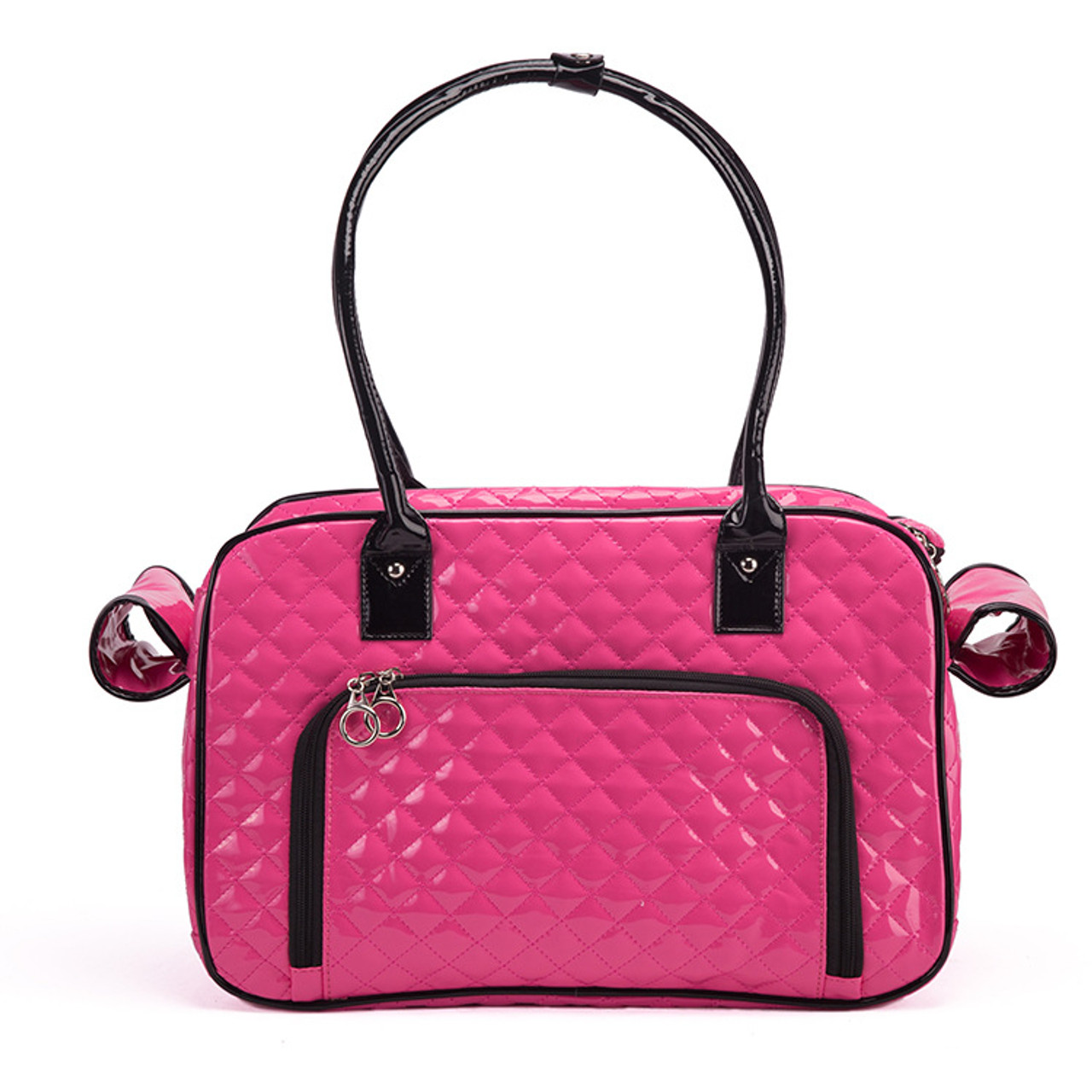 Mirror Surface Faux Leather Tote Purse Dog and Pet Carrier Travel Bag 8796e10d39647