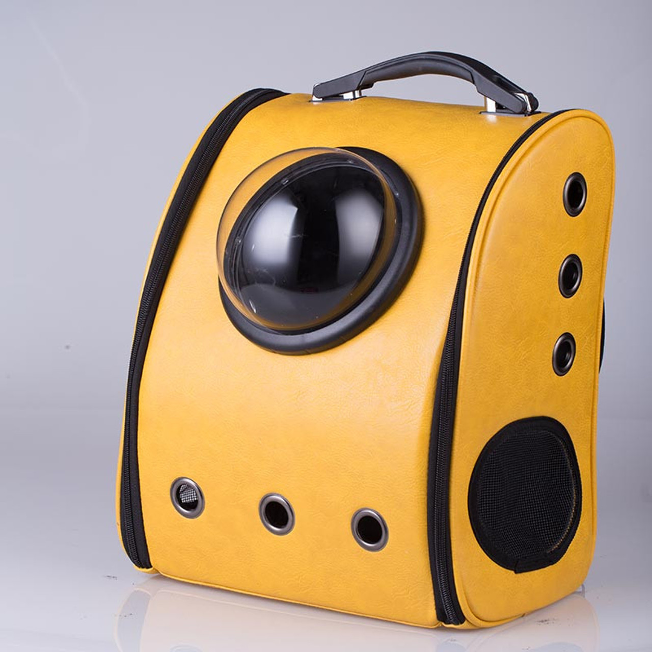Yellow Breathable Space Cabin Pet Carrier Cat Carrier Backpack