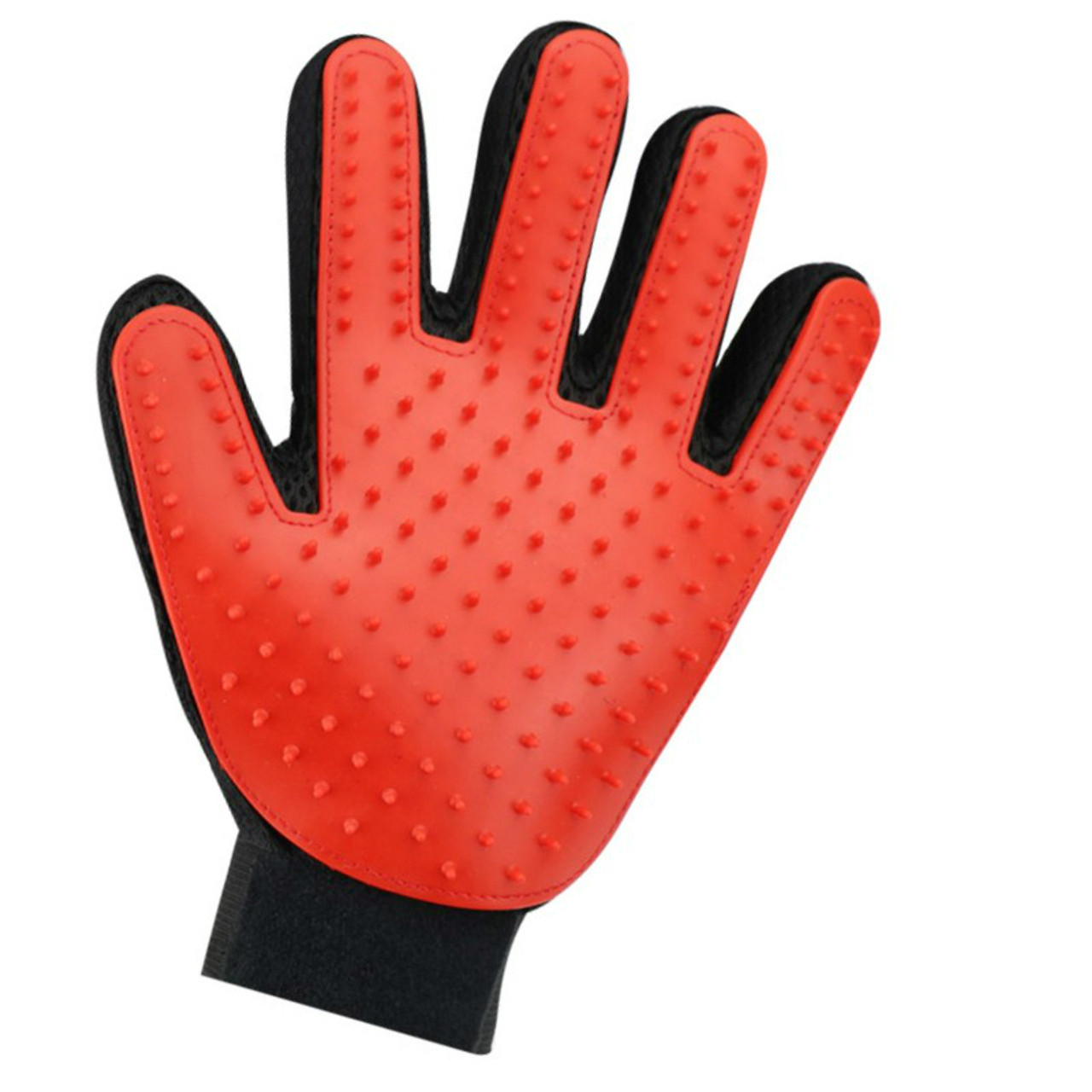 Incredible Left Hand Red Pet Hair Glove Dog Brush Comb For Pet Grooming Glove Download Free Architecture Designs Scobabritishbridgeorg