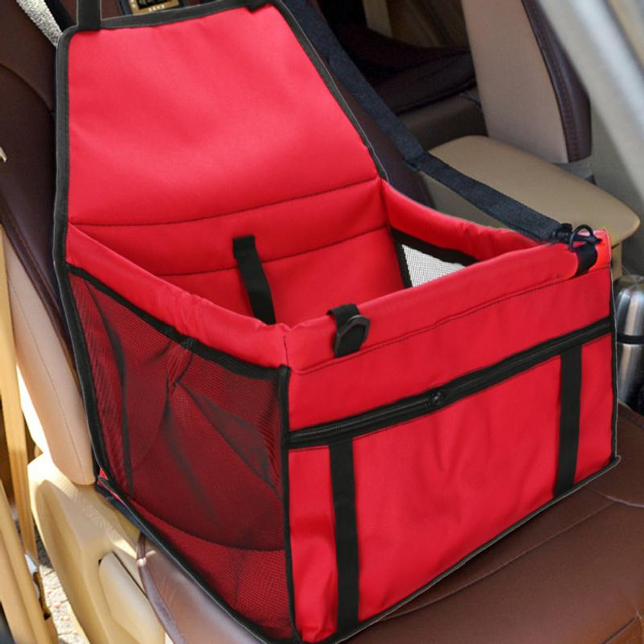 efb83beb2af2 Red Cat Carring Pet Car Seat Cover Waterproof Travel Bag for Small Dog  Puppy Cats Carrying