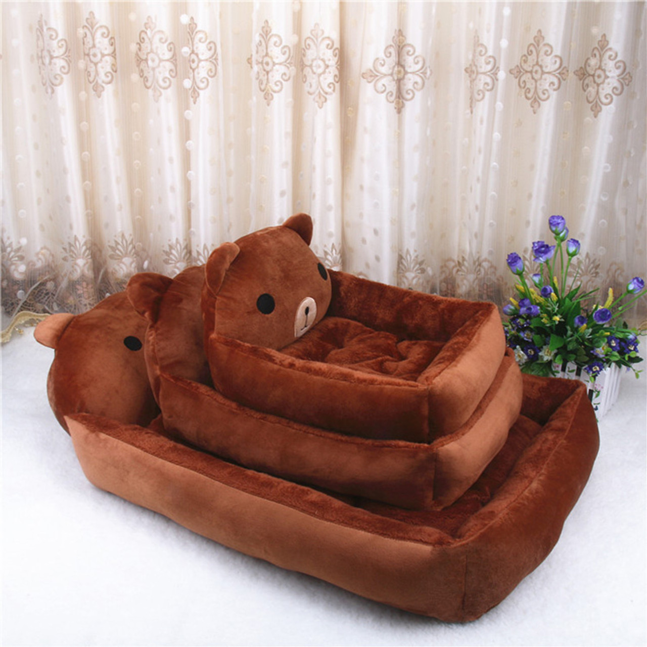 Picture of: Big Blanket Supplies Dog Bed Pp Cotton Cute Animal Cartoon Shaped Warming Cat House Dog Beds