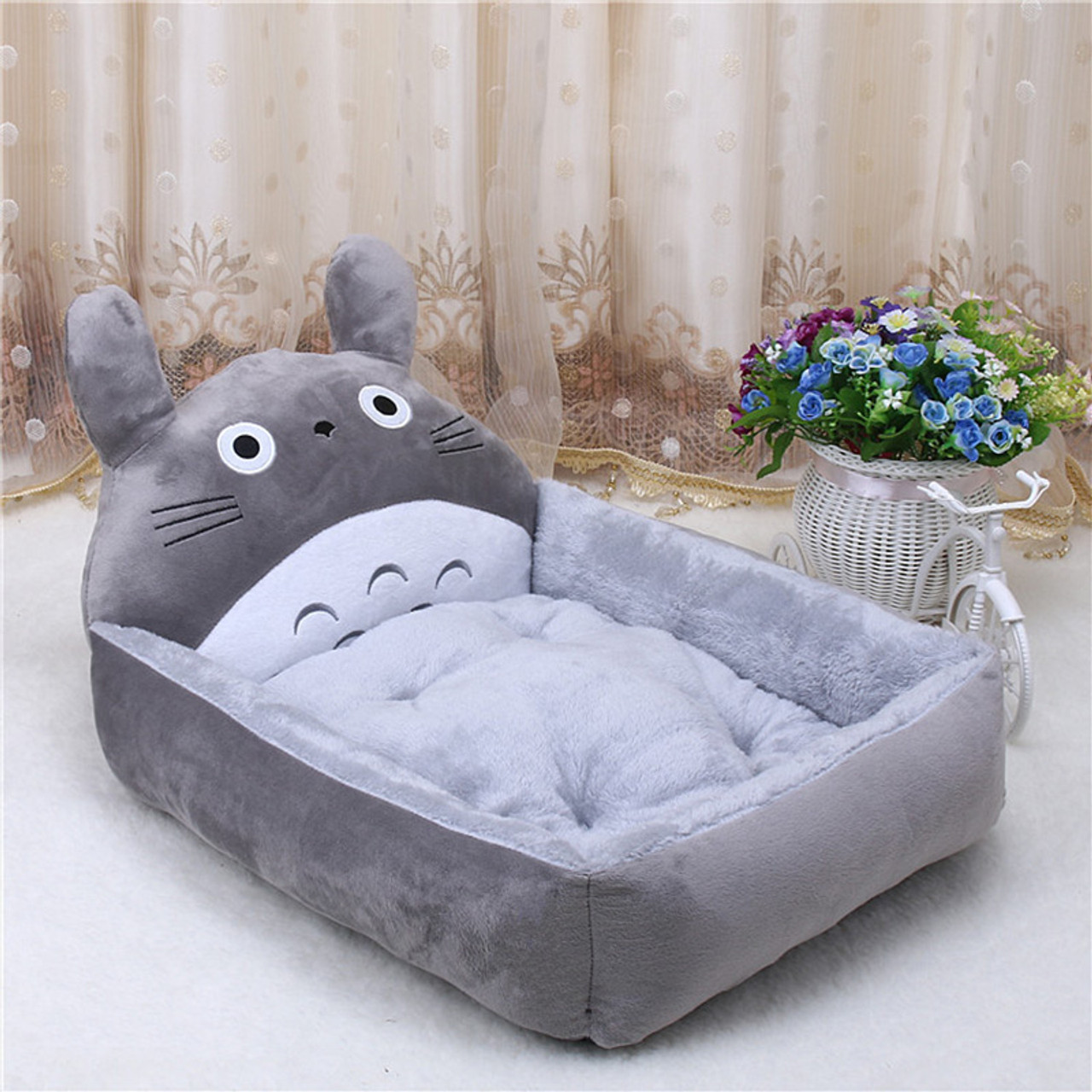 Picture of: Pp Cotton Cute Animal Cartoon Shaped Warming Cat House Dog Beds Big Blanket Supplies Dog Bed