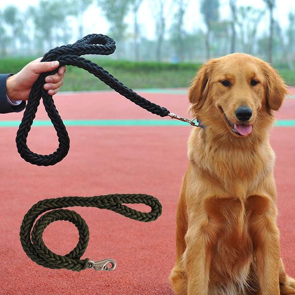 Lead Leash Walking Control Collar Durable Braided Rope Strap