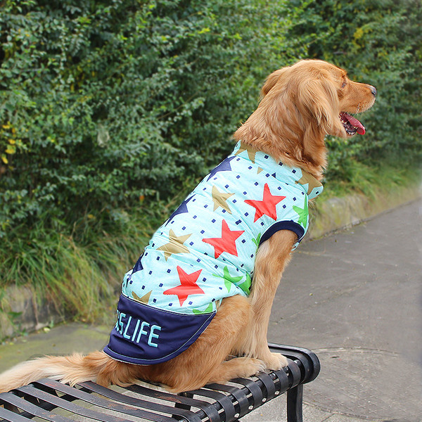 Waterproof Windproof Dog Coat Cold Weather Warm Dog Jacket Reversible Winter Dog Vest for Large Dogs