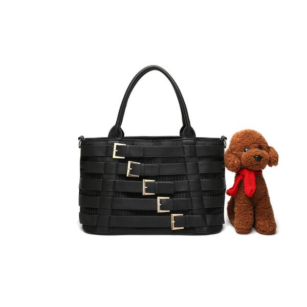 Handbag Dog Fashion Dog Carrier PU Leather Dog Purse Cat Tote Bag Pet Cat Dog Hiking Bag