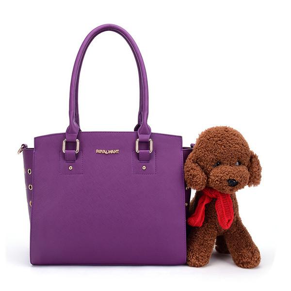 Dog Purse Cat Tote Bag Pet Cat Dog Hiking Fashion Dog Carrier PU Leather Dog Handbag