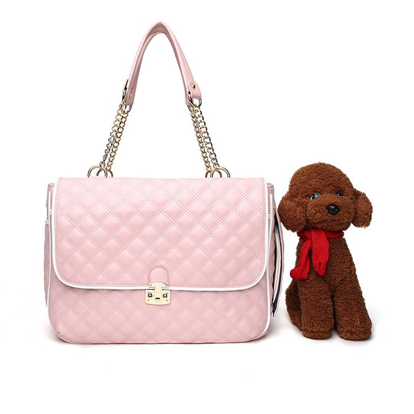 Pink Dog Carriers Bag Pet Totes Purse Puppy Handbag Cat Cage Doggy Pouch