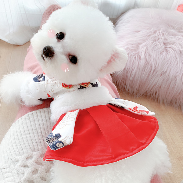 Autumn And Winter Clothing To Keep Warm Pet Dogs And Cats Small Dogs Teddy Clothes