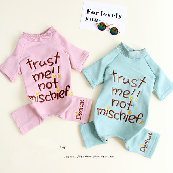 Spring And Autumn Velvet Four-Legged Clothes Baby Pet Teddy Bichon Schnauzer Dog Jumpsuit
