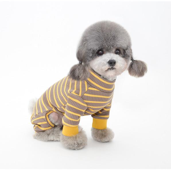 Striped Sailor Pajamas for Pet Puppy Jumpsuit Dog Apparel
