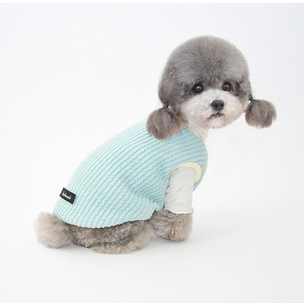 Dog Vest for Winter Warm Soft Sweater for Small Medium Dog Cat Cute Puppy Kitten Clothes