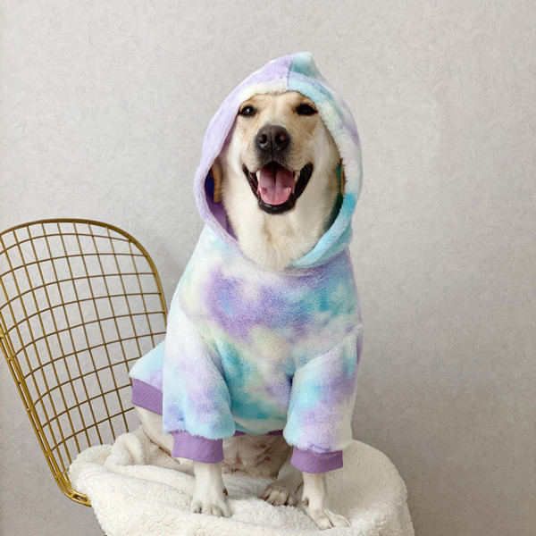 Labrador Hoodie Large Dogs Warm Clothes Comfortable Golden Retriever Samoyed Clothes Winter