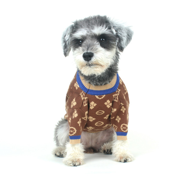 Fashion Pullover Thick Warm Sweater Method Pug Bichon Teddy Schnauzer