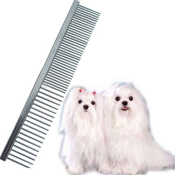 Pin Brush Comb 16.5*2.8cm Dog Brush Stainless Steel For Dogs Cats Hairbrush
