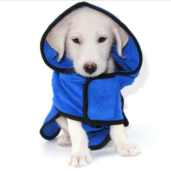 Fast Dry Pet Bath Towel Quickly Absorbing Water Bath Robe for Dog and Cat