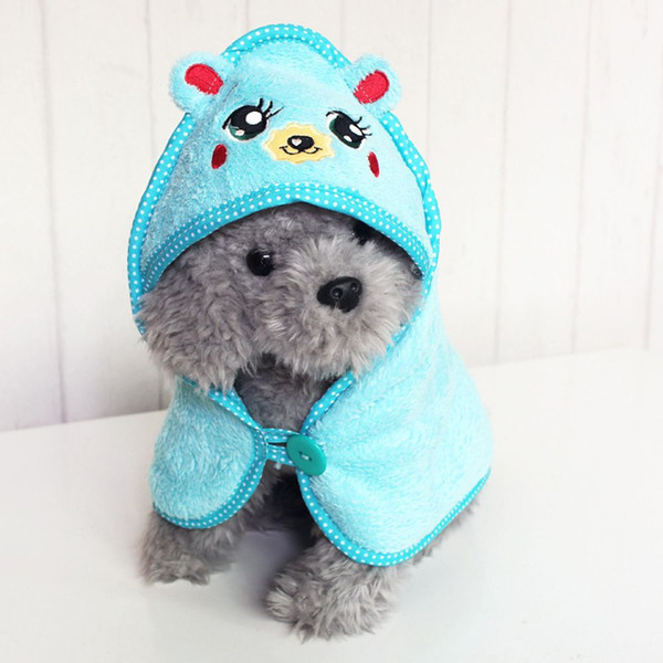 Funny Dogs Cats Super Absorbent Puppy Bathrobe Suit Kawaii