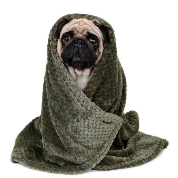 Supplies Towel Dog Bath Towels Blanket Carpet Quick Dry Towel Bathrobes For Puppy Cat Green