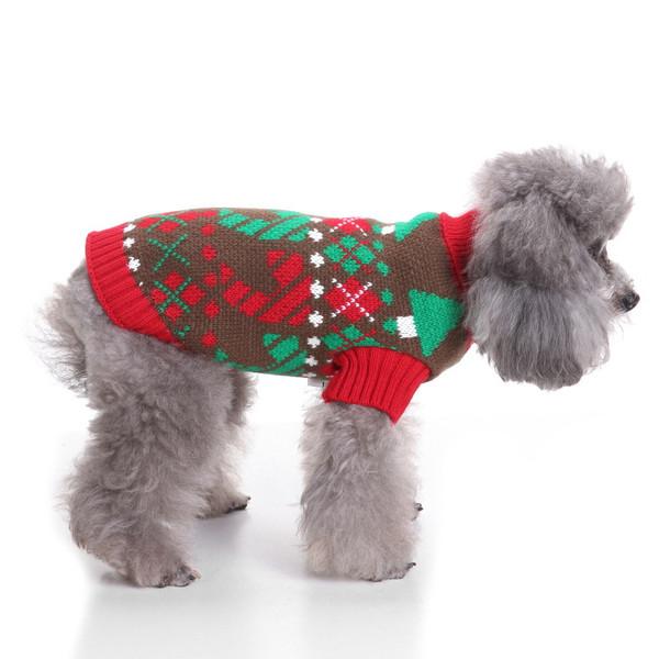 Dog Christmas Sweater.Pet Christmas Sweater Knit Turtleneck Pet Clothes Sweater