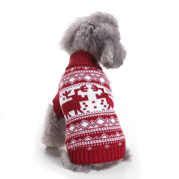 Dog Christmas Sweater.2018 Winter Pet Christmas Sweater Knit Turtleneck Pet Clothes Sweater