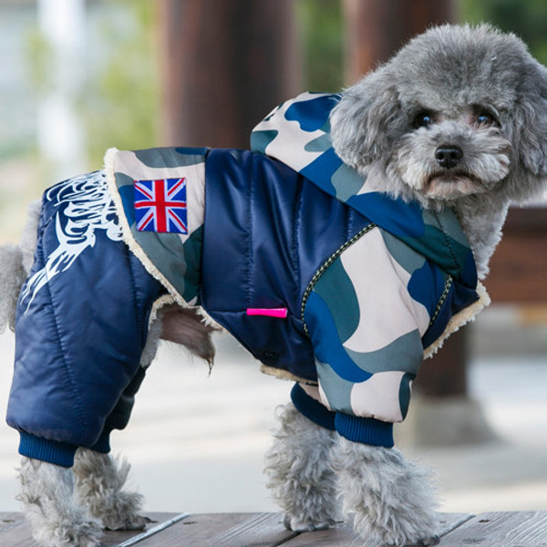 56d3e14da6239 Pet Dog Clothes Thickening Warm Camouflage Dog Coat Jacket Clothing
