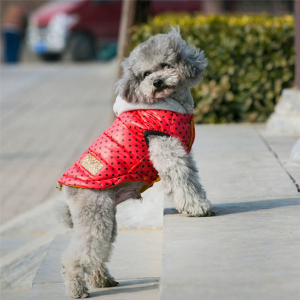 Red Winter Pet Dog Clothes For Small Dogs Warm Down Jacket