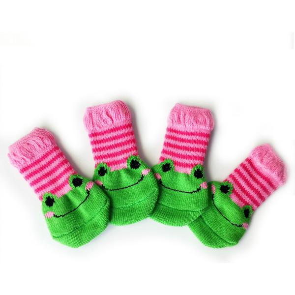 Frog Anti-Scratch Anti-Slip Feet Set Puppies Teddy Cat Shoes Cat Pet Socks