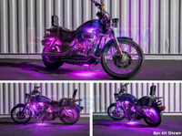 8pc Flexible Million Color Motorcycle Lighting Kit