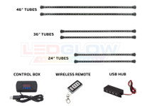Advanced 3 Million Wireless USB Truck Underbody Tubes, Control Box, Wireless Remote, & USB Hub