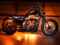 Advanced Orange Motorcycle Lights