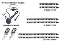 6pc Advanced Million Color Flexible Strips, Control Box & Wireless Remote